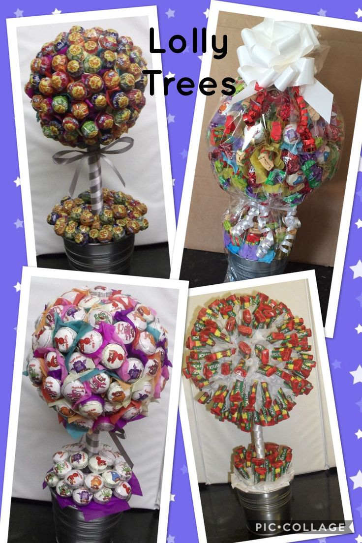 Lolly Tree Can be created with one type of lolly or a mixture of lollies Double Lollies Drumsticks Chips Chups Minis Swizzles Lolly Mix
