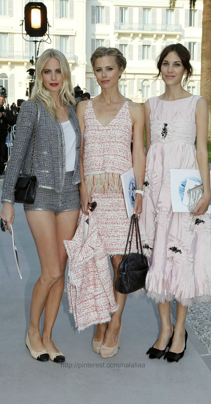 laura@nubiles  51 Poppy Delevingne, Laura Bailey and Alexa Chung (all in Chanel) - At Chanel