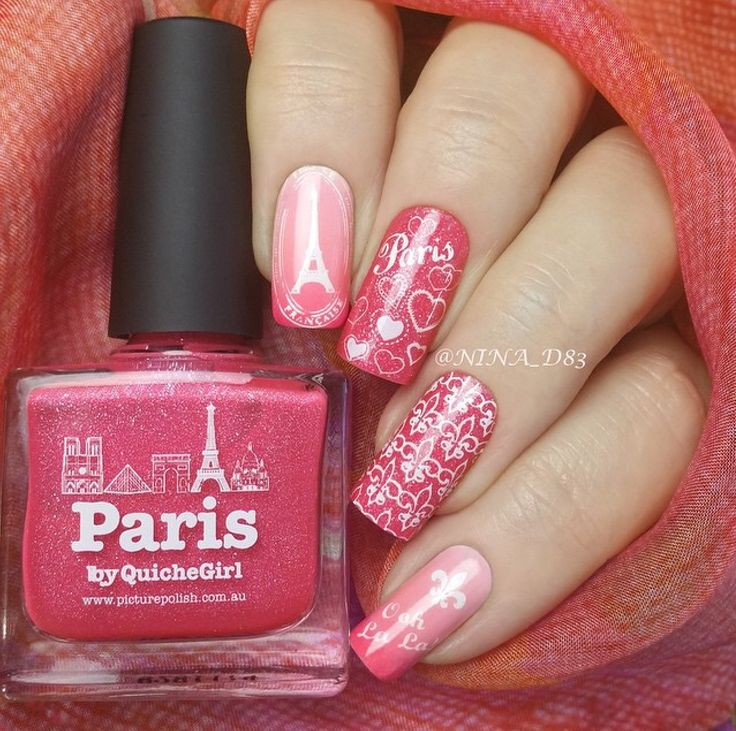 piCture pOlish 'Paris' nails by Nina WOW shop on-line: www.picturepolish.com.au