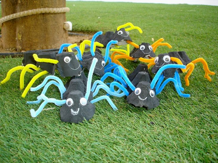 Egg cartoon ants craft