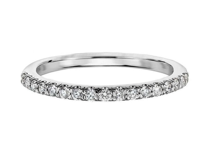 1/4CT Diamond Wedding Ring 10K White Gold Size (4-11) Round cut Real Solid 1.7mm #Affinityfashionjewelry #WithDiamonds