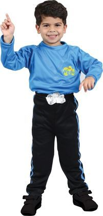 It's fun time with The Wiggles! Dress up in this The Wiggles Anthony Boys Costume featuring a blue skivvy with logo and black pants with blue stripes down each side.