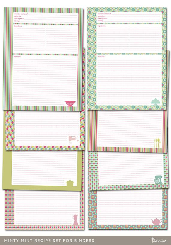 free recipe templates for binders - 17 best images about recipe binder on pinterest