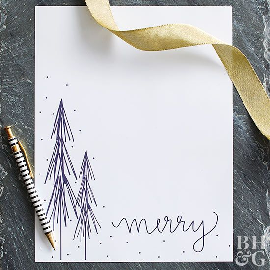 Send warm wishes this year with a pretty winter-themed letter.
