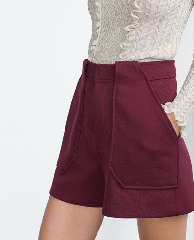 Image 4 of HIGH WAIST SHORTS from Zara