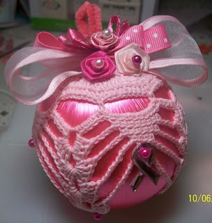 Crochet Ornament - Pink for Breast Cancer Awareness