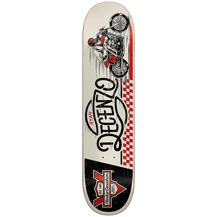 "Darkstar x Harley Davidson Racing R7 Skateboard Deck - Decenzo 8.25"" | Skateboard Decks | Cheap Skateboard Decks Online | Skate Shop | Skatehut"