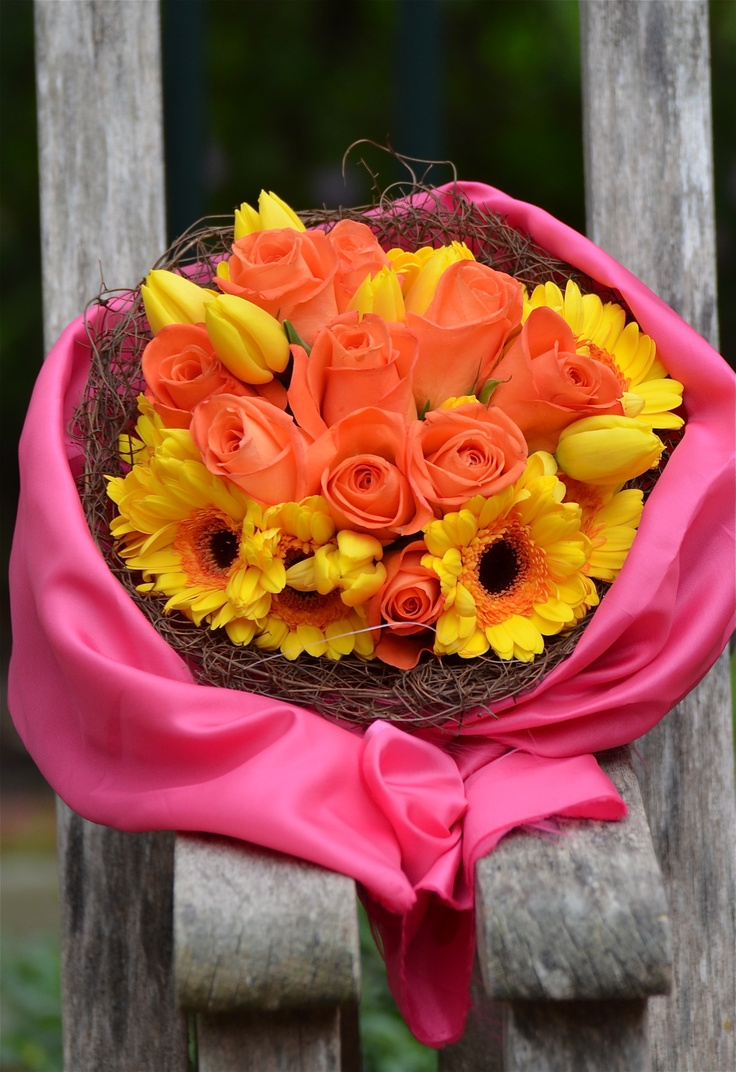 Orange ,pink, yellow what a combination