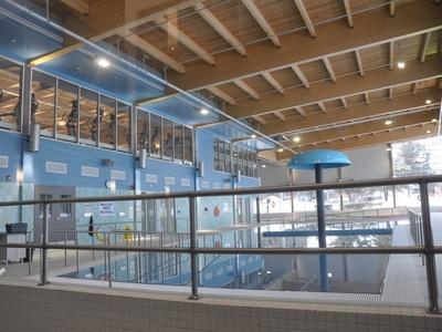 Fitness centre overlooks the pool at the Gravenhurst YMCA.