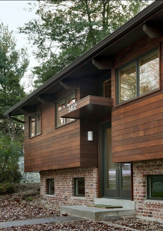Entry contemporary exterior dc metro bennett frank mccarthy architects inc wood and brick