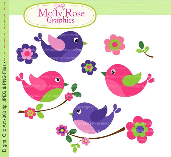 clipart flowers and birds - photo #34