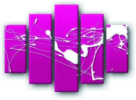 Decoart24.pl Pięcioczęściowy obraz na płótnie zatytułowany Abstract Zen ink Painting.  Autorstwa: Anson Tsui Cena 299.00