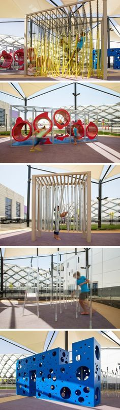 Free Play have designed an interactive playground at the Hazza Bin Zayed Stadium in Abu Dhabi.