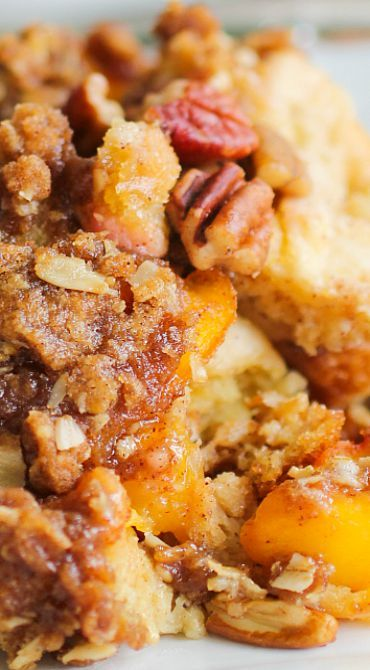 Peachy French Toast Casserole