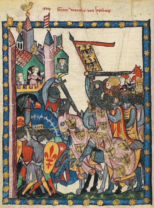 Manesse Codex - (1300 - 1340) Graf Wernher von Homberg