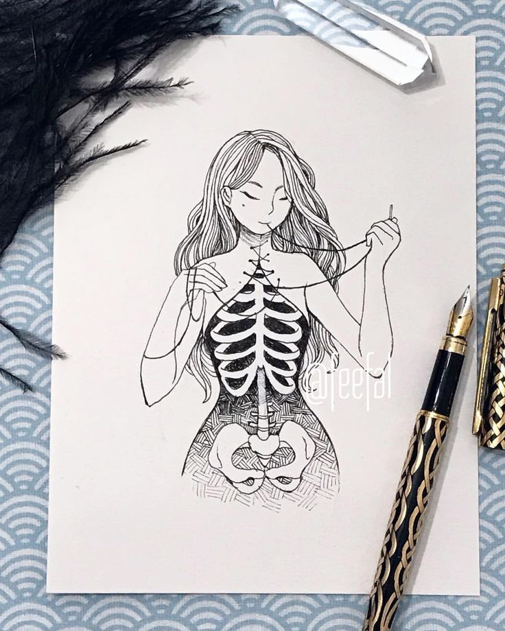 Original inktober drawings are now available on my store! Link in my bio❤️…