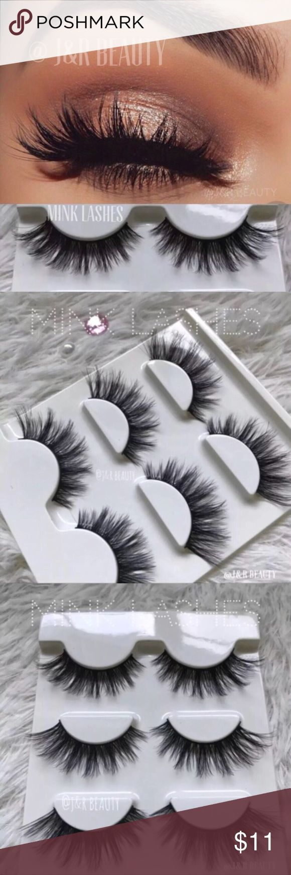 Mink lashes 3D 3 Pairs +$2 Add on eyelash Applicator  +$3 Add on eyelash glue Please message me if you want to add them.   ❌No Offers ✅ Bundle &  Save  # tags Iconic, mink, red cherry eyelashes, house of lashes, doll, kawaii, case, full, natural,  Koko, Ardell, wispies, Demi , makeup, Iconic, mink, red cherry eyelashes, house of lashes, doll, kawaii, case, full, natural,  Koko, Ardell, wispies, Demi , makeup, mascara, eyelash applicator, Mykonos Mink , Lashes , wispy ,eyelash case, mink…