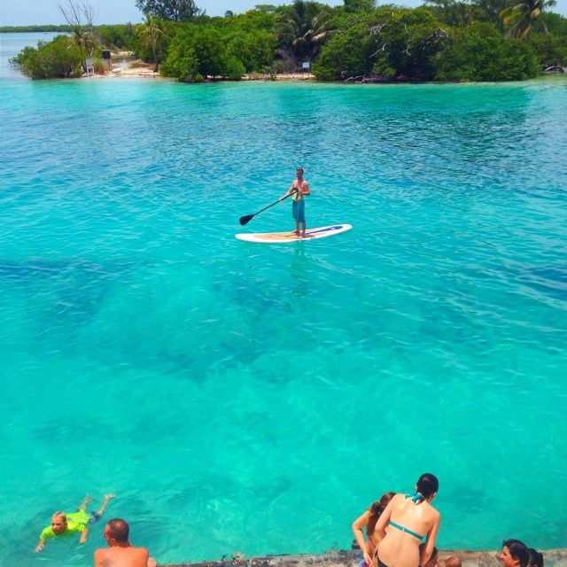 The beautiful waters of the split at caye caulker, Belize!