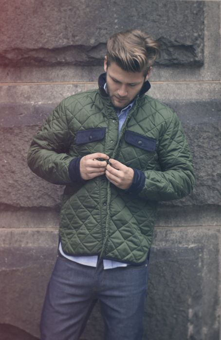 green and blue jacket, mens outerwear