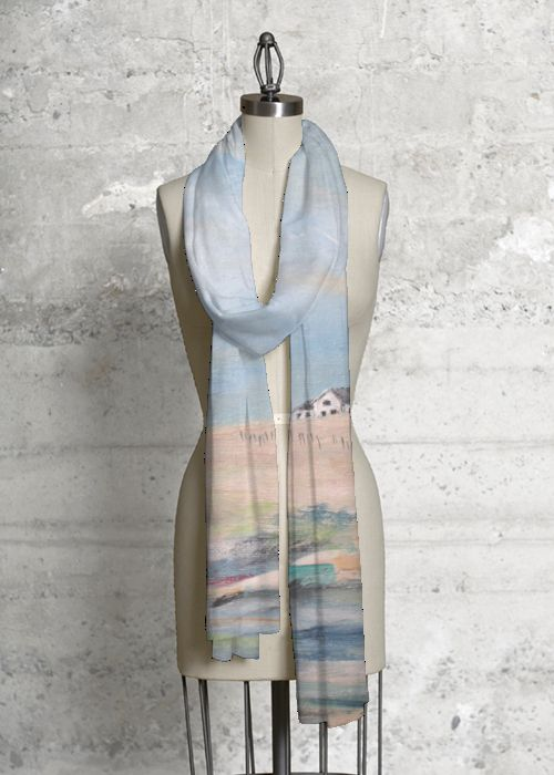 Modal Scarf - Tangled Blues Scarf by VIDA VIDA apBatE