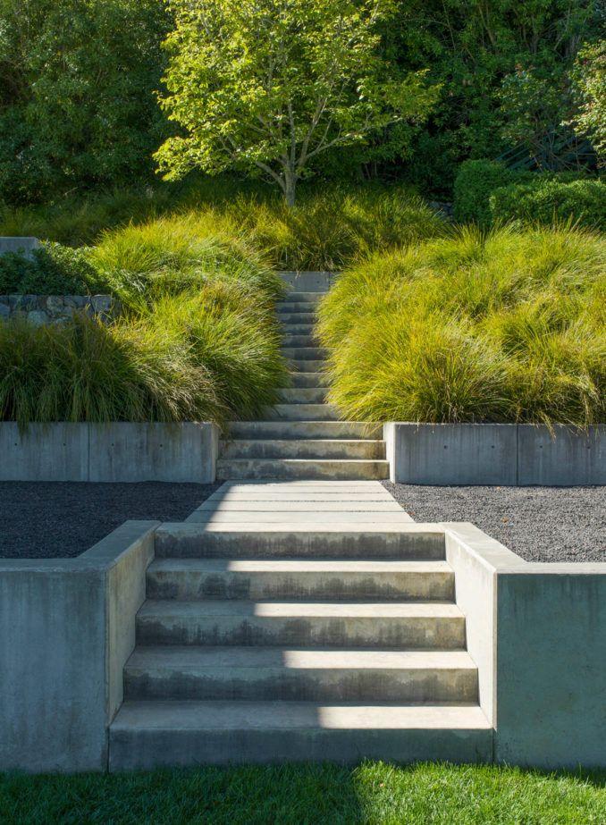 Marin County Modern Green 17 Design In 2020 Landscape Plan Marin County Landscape Construction