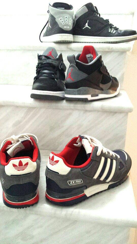 My best collection. Adidas ZX750, Jordan Flight 45 and Jordan 1 Flight