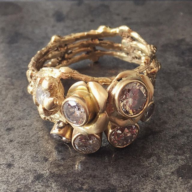 breathtaking one of a kind custom design Karen Kertesz re-purposing the customer's diamonds @loveandluxe