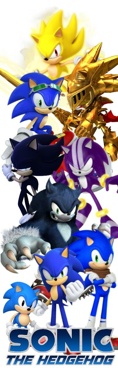 Todas las transformaciones de Sonic The Hedgehog