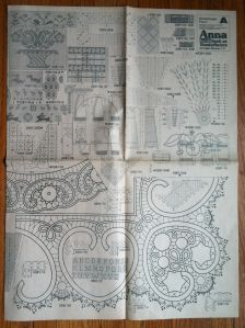 """The very first issue of Anna Burda magazine that contained patterns and instructions for """"Macramé Style Crochet"""" (more commonly known as Romanian Point Lace) was March, 1981. It's referred to as t..."""