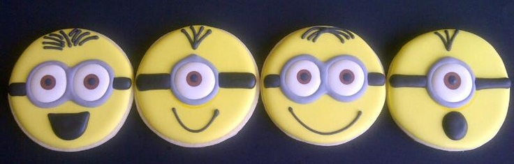 Minion Cookies, looks pretty straight-forward!