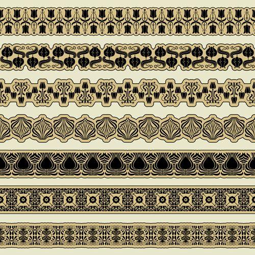 Free Ornament pattern borders vector material 05