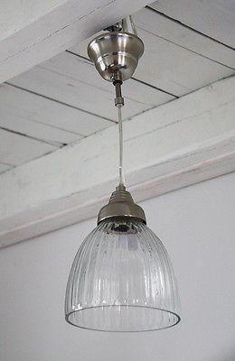 Hängelampe Lampe klassisch Glas Antique Shabby Chic Landhaus Nostalgie