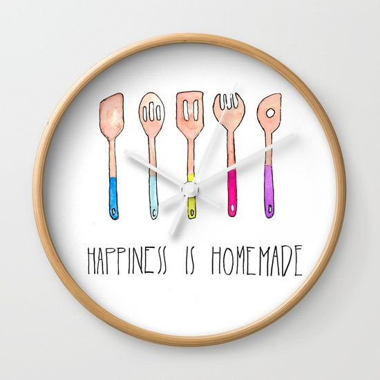 Spoons - Happiness is Homemade Wall Clock