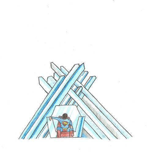 Redrawing 21/03: Frío. by sergioski1982, via Flickr #Illustration #Superman
