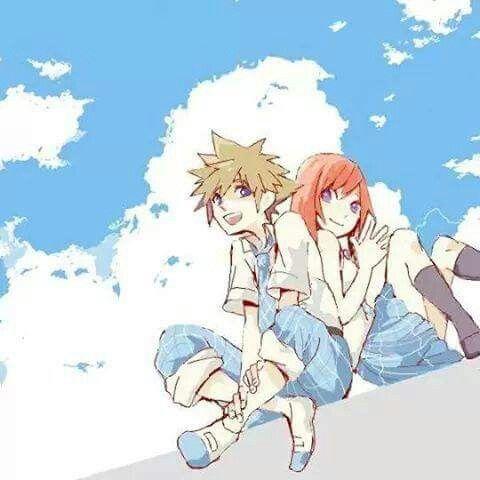 Sora and Kairi Kingdom Hearts