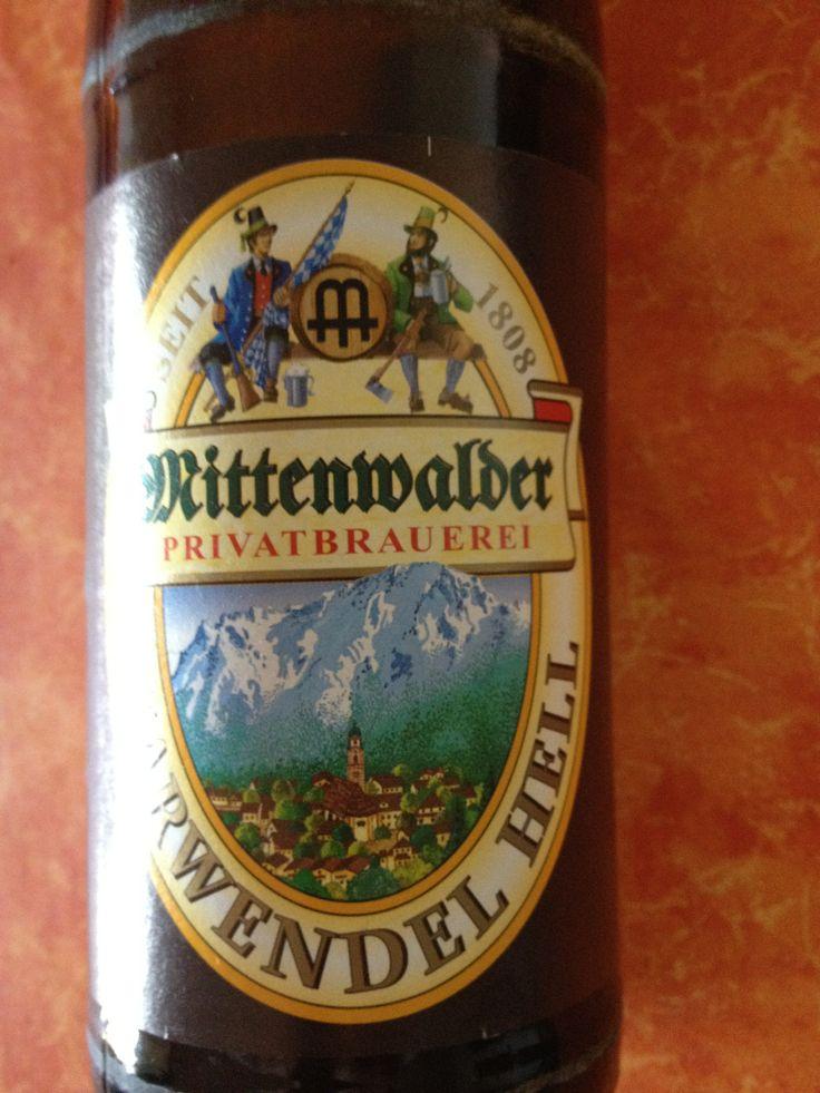 Mittenwalder Karwendel Hell  Brewed by Mittenwalder Privatbrauerei Style: Dortmunder/Helles Mittenwald, Germany