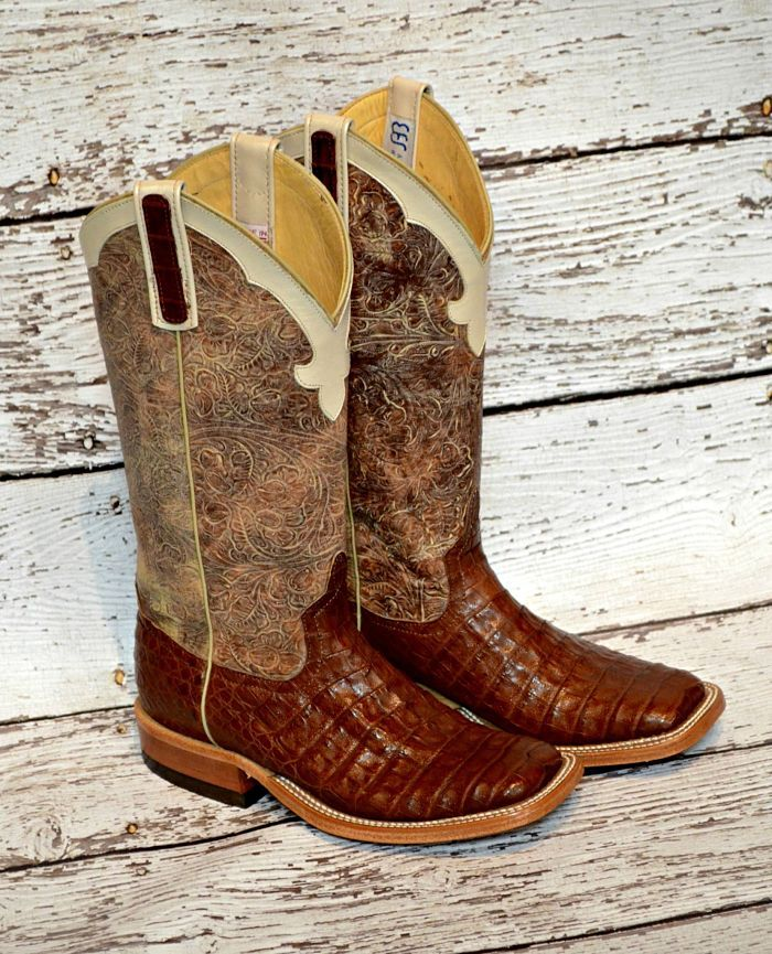 Brown Caiman Anderson Bean Boots from Mule Barn.