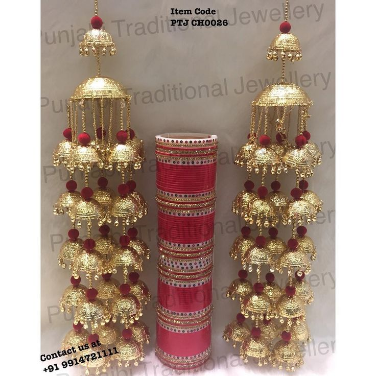 "Punjabi Traditional ""Heavy Wedding Kalire & Churra"" Item Code - PTJ CH0026…"