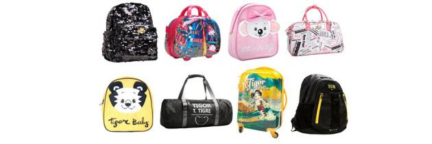Malas e mochilas complementam a coleção da Lilica Ripilica e do Tigor T. Tigre