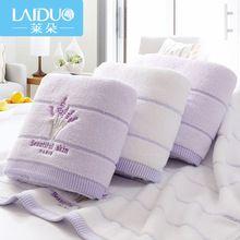 Быстросохнущие, мягкие пляжные/банные полотенца с вышитыми цветами лаванды, 1шт. размер 70х140, материал - 100% хлопок(China (Mainland))