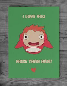 96 best studio ghibli images on pinterest studio ghibli studio studio ghibli ponyo greeting card best valentines card ever bookmarktalkfo Choice Image