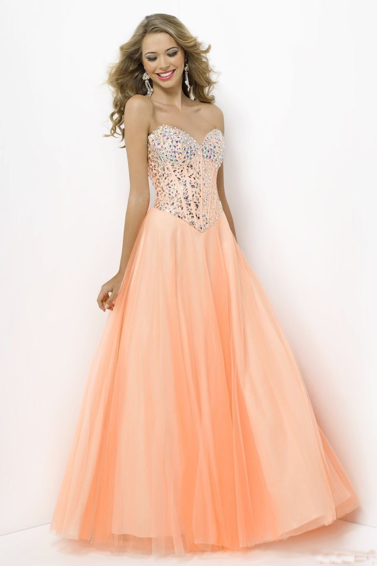 78  ideas about Peach Prom Dresses on Pinterest  Homecoming ...