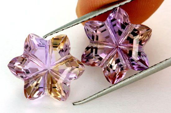 11.66 CTS  VVS AMETRINE FLOWER CARVING [AMT7] Ametrine gemstone, my favourite purple colour stone, gemstones