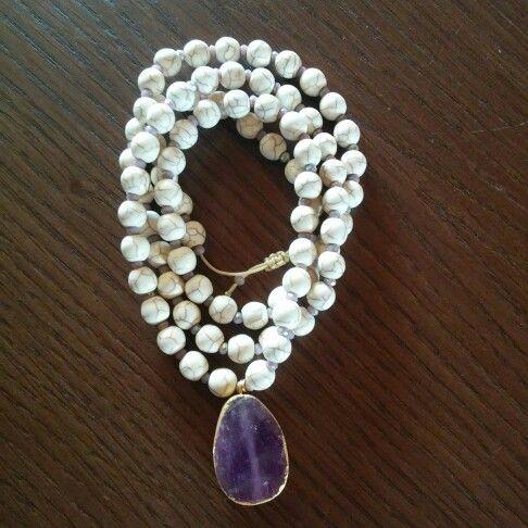 Necklace , semiprecious stones