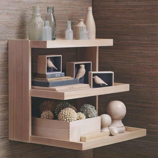 Ideas to Build Interesting Wood Shelving Units - https://midcityeast.com/ideas-to-build-interesting-wood-shelving-units/
