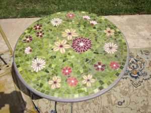 Garden Mosaic Stepping Stone.
