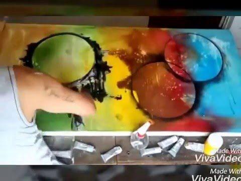 Pintar quadros abstratos passo passo