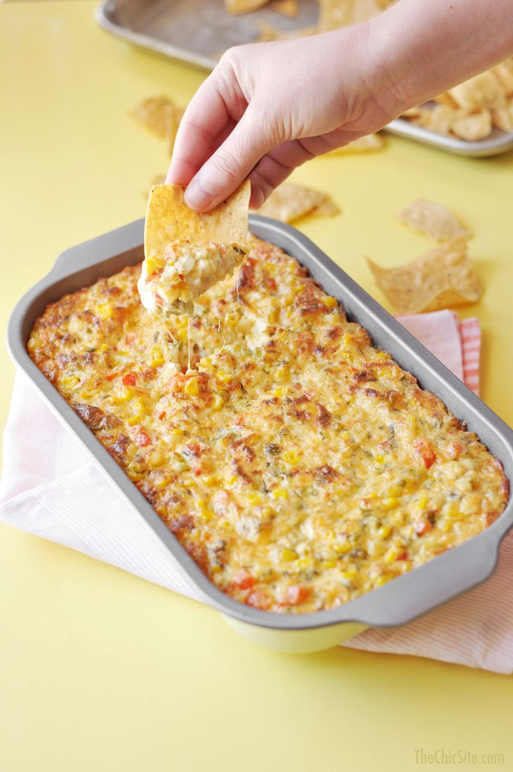 Spicy Corn Dip ~ Great party appetizer or snack www.thechicsite.com