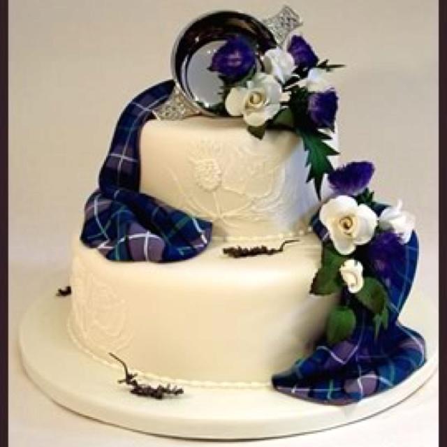 One of my favorite Scottish wedding cakes