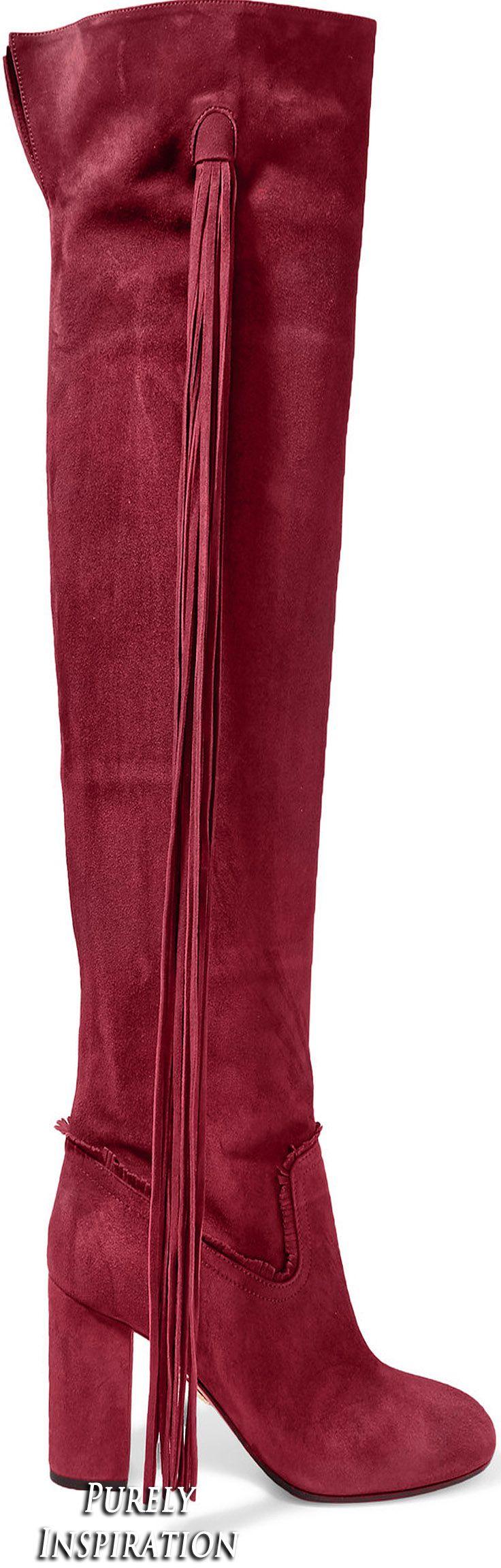 Aquazzura Tasseled suede boots | Purely Inspiration